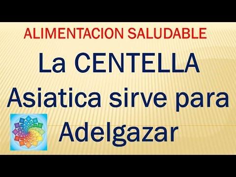 Centella asiatica y alcachofa para adelgazar