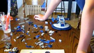 LEGO® Armored Assault Tank (AAT)  8081 Review. Timelapse being built.