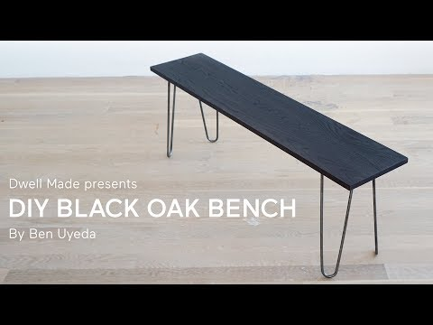DIY Black Oak Bench with Homemade Stain | A Dwell Made Project