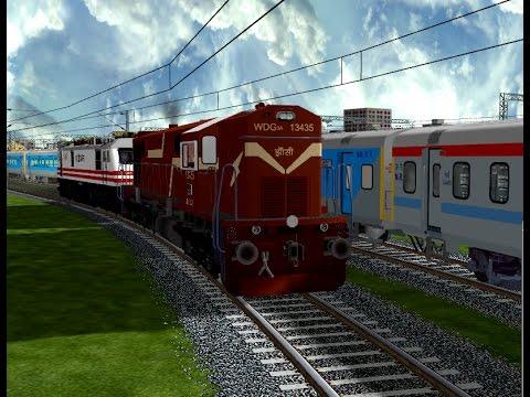 Shunting Bhopal Shatabadi In Bhopal Habibganj Jn || IR In MSTS Open Rail