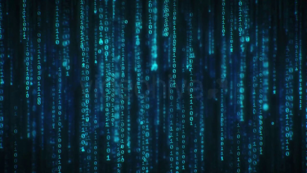 Binary Code 4k Long Loop Screensaver Live Wallpaper Youtube
