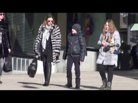 St. Moritz: Furs in the street. Part 1