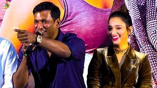 Reporter -க்கு LOVE YOU சொன்ன விஷால் | Vishal Speech, Tamanna, Sundar C | Action Movie Press Meet