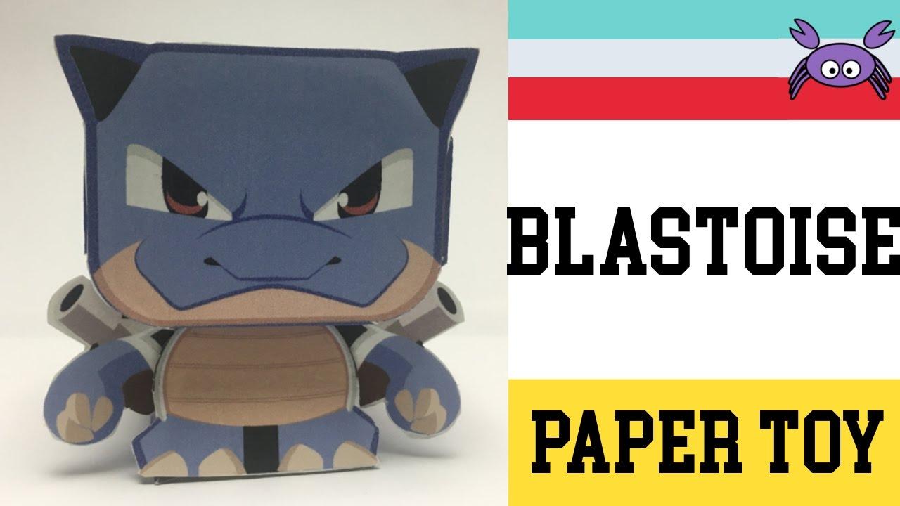 How To Make A Pokemon Blastoise Paper Toy Papercraft