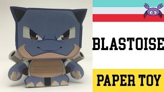 How to Make a Pokemon Blastoise Paper Toy ( Papercraft ) (free template) by Becks Junkie