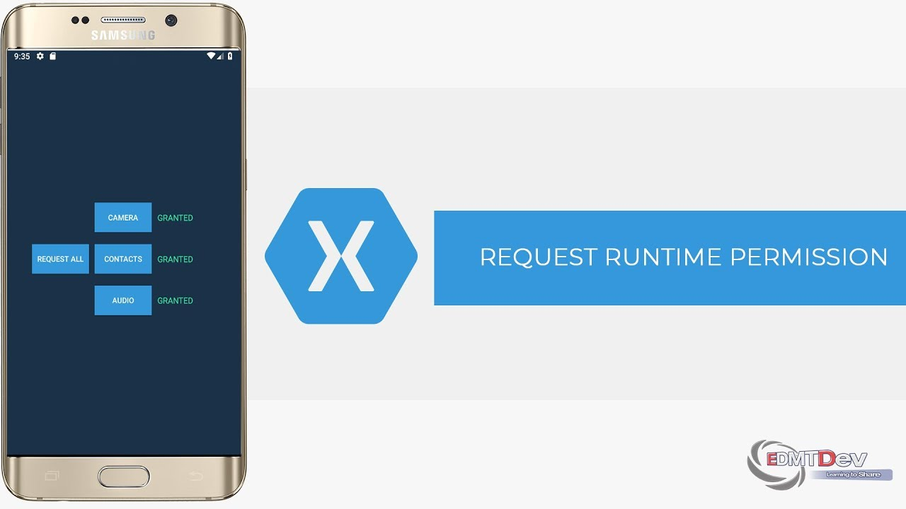 Xamarin Android Tutorial - Request Runtime permission with Dexter