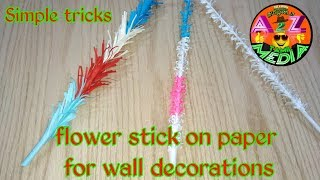 How to make a flower stick on paper at easy way