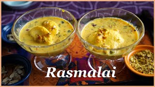 How to make Rasṁalai Recipe, Rasmalai Halwai Style, Bengali Rasomalai Recipe, Diwali Sweets