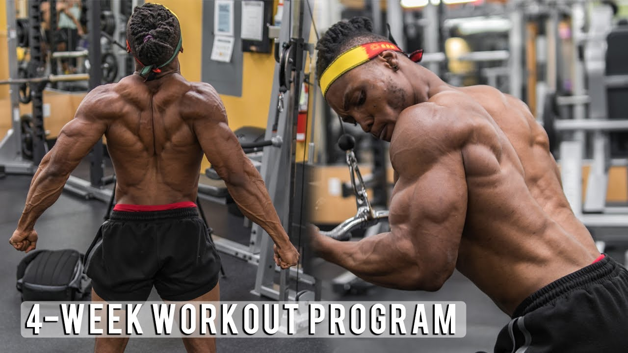 4 Week Workout Program with SHRED and BULK Meal Plans | Home/Gym Edition!