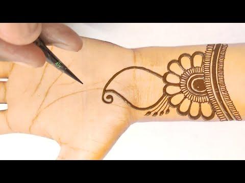 सुंदर और आकर्षक मेहंदी डिजाइन लगाना सीखे-stylish And Beautiful Mehndi Design-floral Mehndi Design