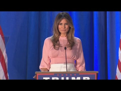 Melania Trump Makes First Speech Since Her Controversial RNC Remarks