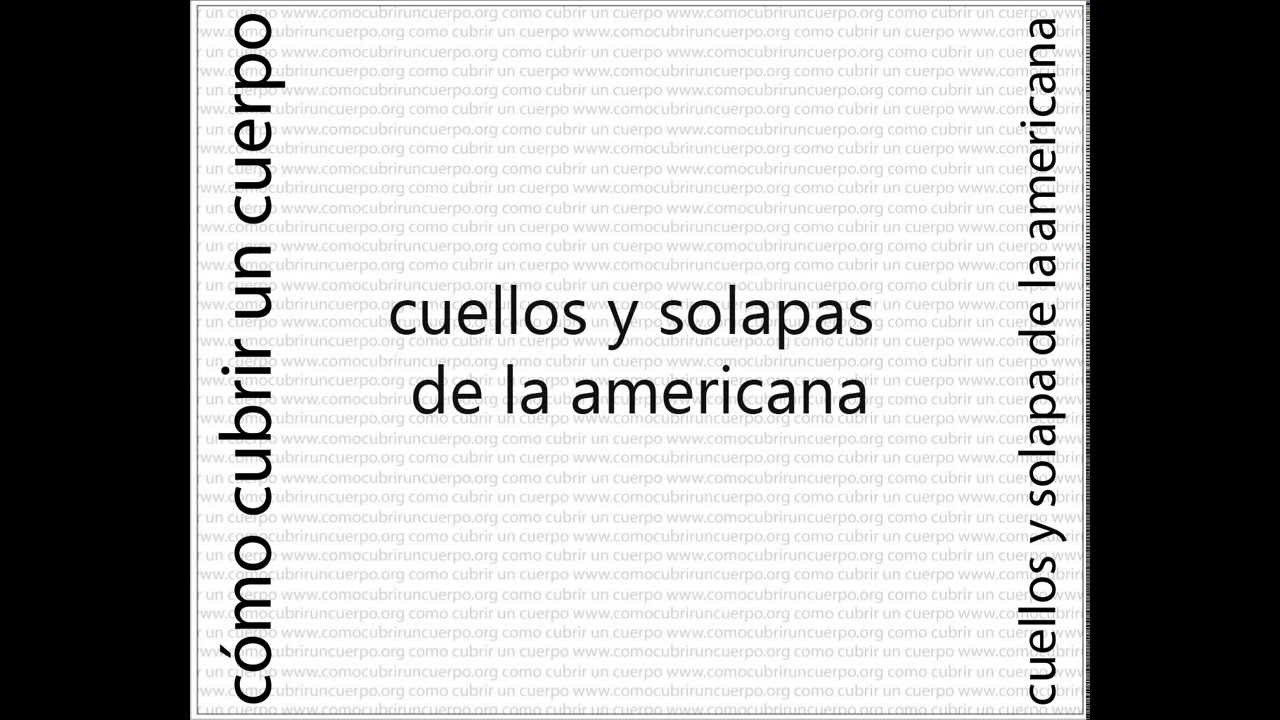 Cuello Solapa Americana VSP 02 - YouTube