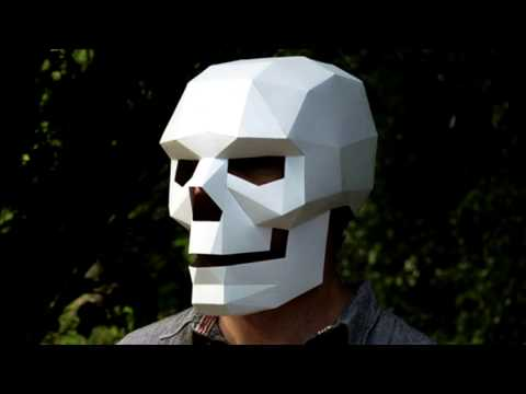 Как сделать шлем-маску череп из бумаги (1 часть)/How to build a Wintercroft Mask