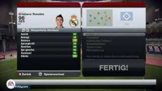 FIFA 13 | 96 RONALDO TOTS Review & In-Game Stats | Ultimate Team | German