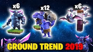 Ground Trend 2019! 6 Max Pekka 6 Max Bat Spell Destroy 3Star Max TH12 Base | Clash Of Clans