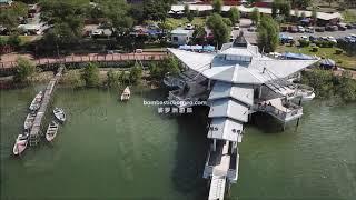 Kampung Telaga Air Waterfront (Drone view), Matang Kuching Sarawak Malaysia Travel