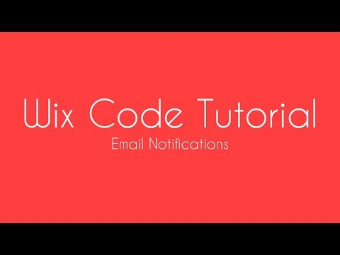 Adding email notification to WIX