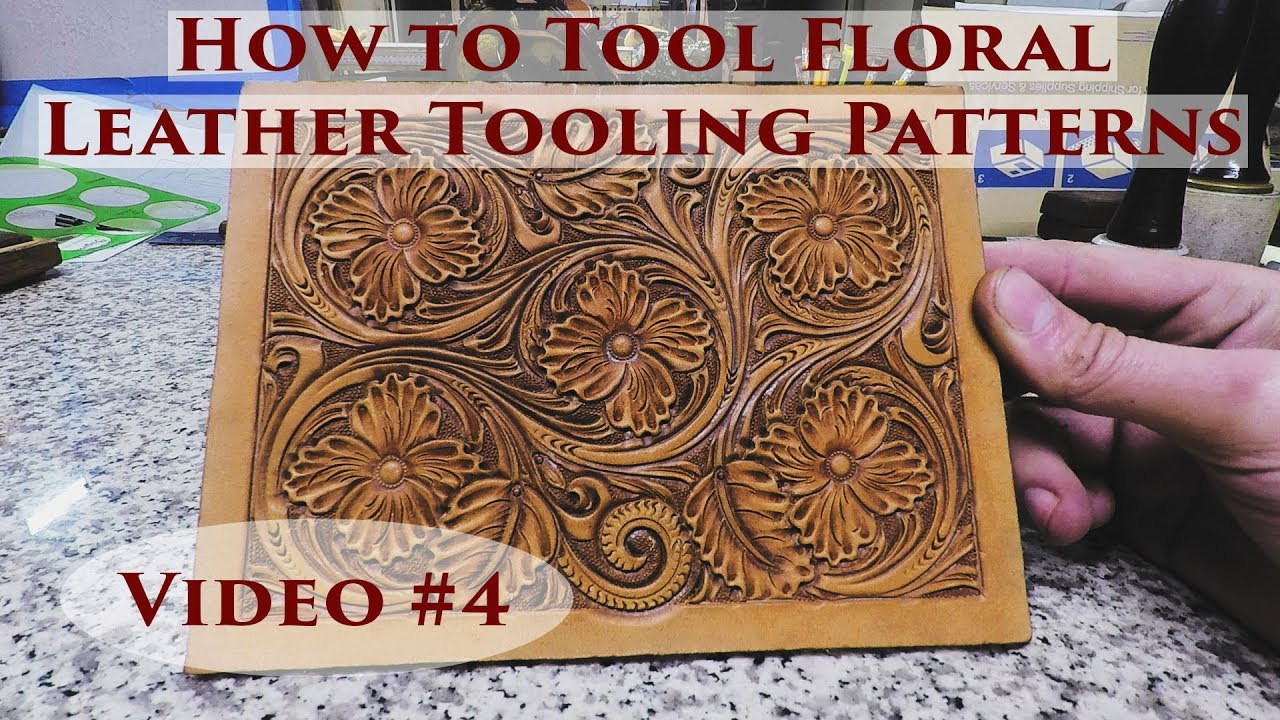 graphic regarding Printable Leather Tooling Patterns named How toward Device Floral Leather-based Tooling Behaviors - Online video #4