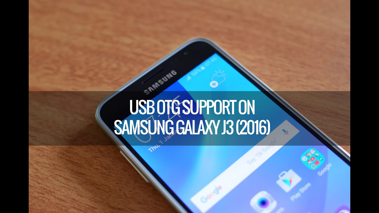 USB OTG Support On Samsung Galaxy J3 (2016)