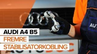 Hvordan bytte fremre stabilisatorkobling på AUDI A4 B5 [BRUKSANVISNING]