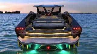 Lamborghini 63 yacht by Tecnomar - fastest Lamborghini yacht