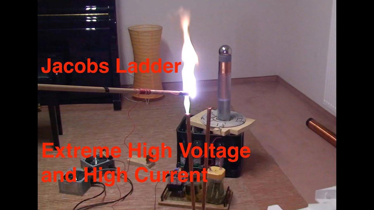 how2) jakobs-leiter selber bauen mit mikrowellentrafo - high voltage