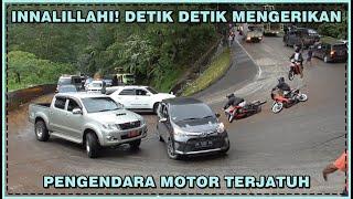 Download Innalillahi, Detik Detik Mengerikan Pengendara Motor Terjatuh di Sitinjau Lauik