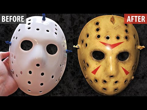 Painting and Weathering a Jason Mask - Friday The 13th