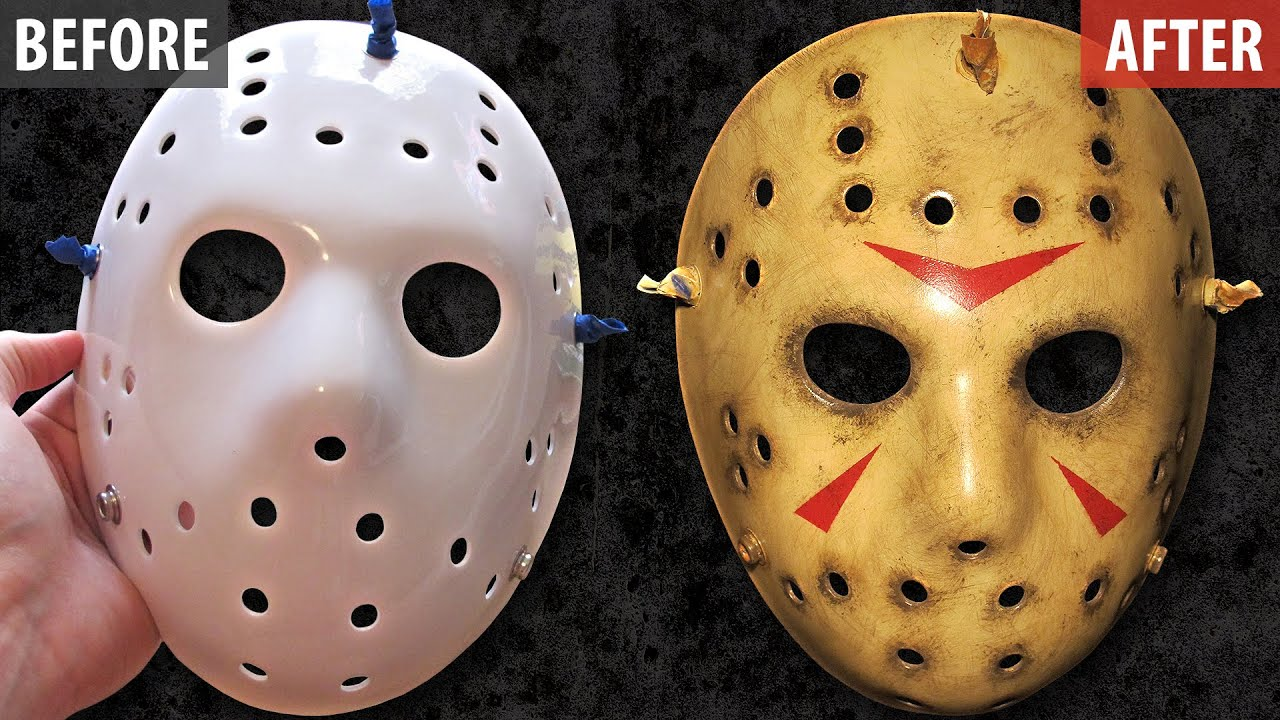 Painting And Weathering A Jason Mask Friday The 13th