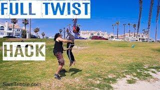 Sam Tribble Standing Full Twist Hack Tutorial (From arabian/front flip) How to Back Full Part 1