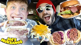TRYING WORLD FAMOUS BURGERS with MATT KING AND UGH IT'S JOE!!