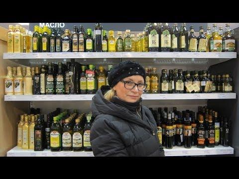 Ассортимент продуктов  в супермаркете Петербурга.