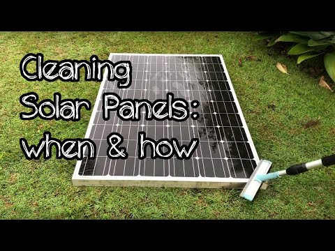 How & when to clean solar panels