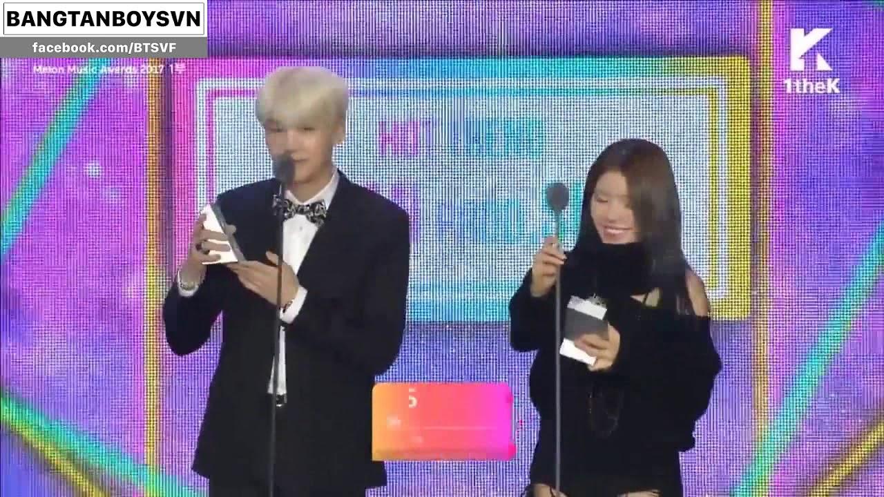 [Vietsub] SUGA & SURAN Win Hot Trend Award @ Melon Music Awards 2017