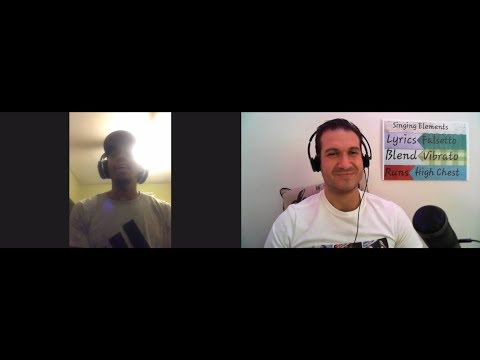 Real Student Lesson - Motivation Chat + Pitch Accuracy - With You by Chris Brown - Kevin 3 of 6