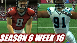 NOW OR NEVER - MADDEN 2007 FALCONS FRANCHISE VS PANTHERS s6w16