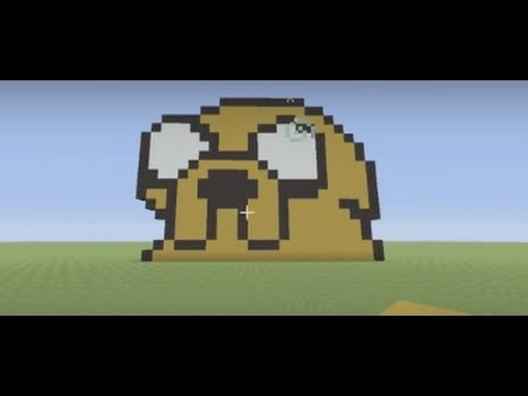 Minecraft Pixel Art Tutorial: How to make Jake the Dog (Adventure Time)