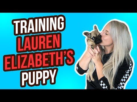 TRAINING LAUREN ELIZABETH'S NEW PUPPY