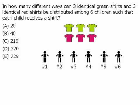 gre math practice permutations and combinations example 1 youtube