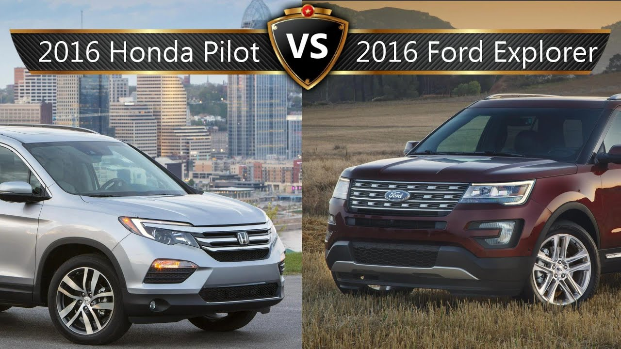 2016 honda pilot vs ford explorer by the numbers youtube. Black Bedroom Furniture Sets. Home Design Ideas