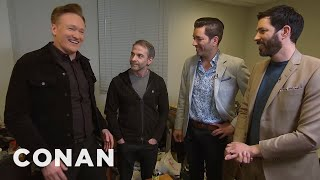 Conan Asks The Property Brothers To Renovate Jordan Schlansky's Office  CONAN on TBS