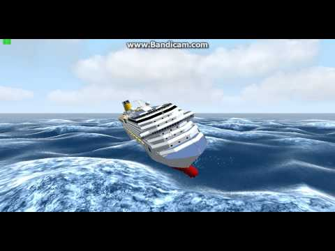 Costa Pacifica Sinking  Cruise ship sinking costa pacifica,virtual sailor sinking