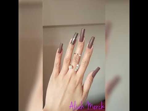 Aliah Merck Showing A New Nail Design On Beautiful Long Nails (video 8)