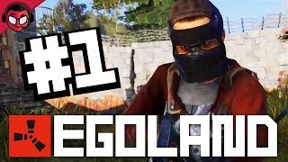 ESTAMOS EN EGOLAND!! MI PRIMER DÍA EN EL SERVER | Rust