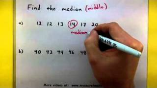 Statistics - Find the median