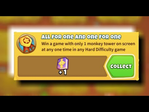 How To Get &39;All For One And One For One&39; Achievement Bloons TD 6