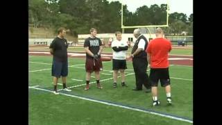 How to coach offensive line - Proper body angles for optimum power