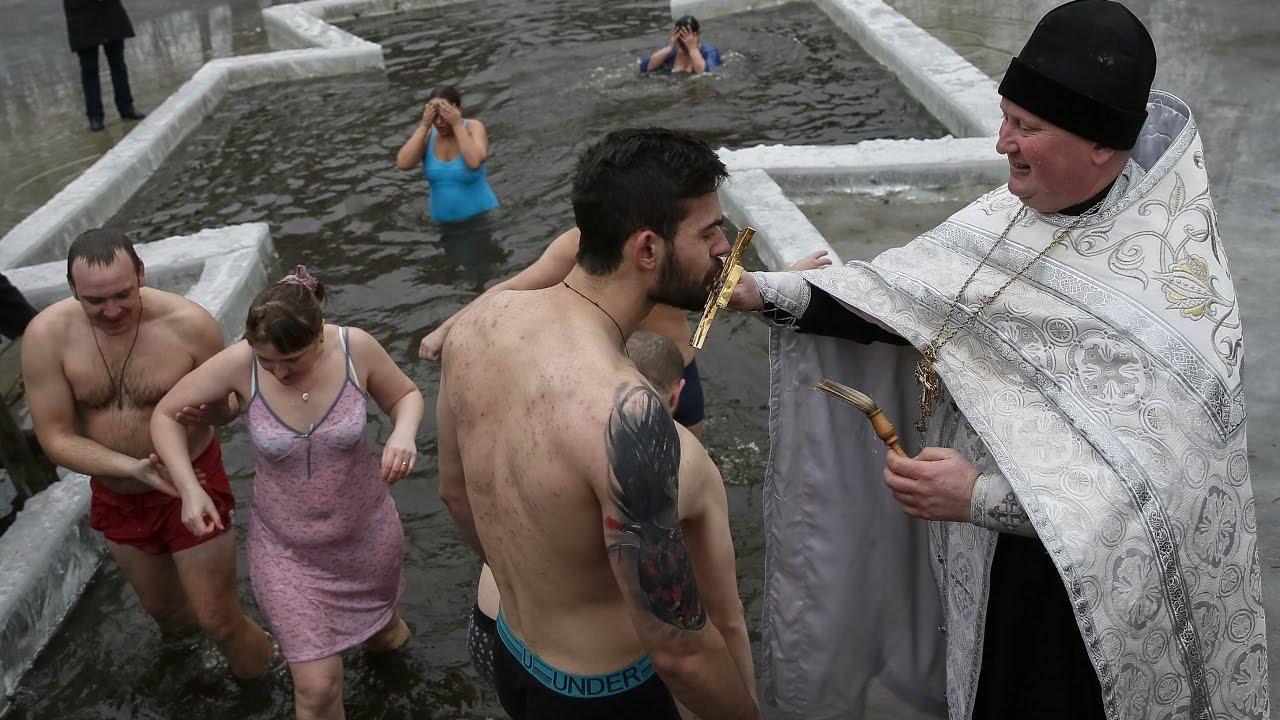 фото купание на крещение