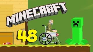 Дедушка в Гостях у Крипера?? - Happy Wheels 48 (Карты Minecraft)