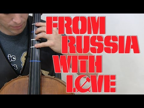 FROM RUSSIA WITH LOVE Cello Cover and Lesson